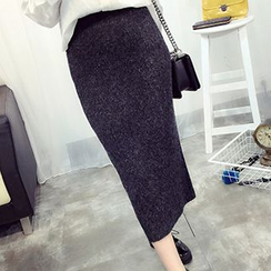 FR - Knit Midi Pencil Skirt