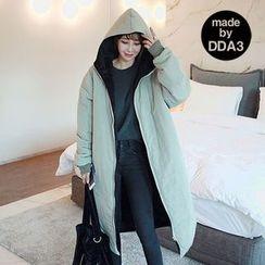 Seoul Fashion - Hooded Zip-Up Padded Coat
