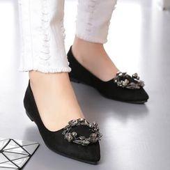 安若 - 綴飾尖頭平跟鞋
