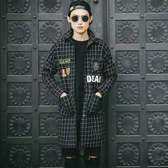 Hawoo - Check Button Coat