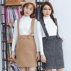Ivena - Suspender Pencil Skirt