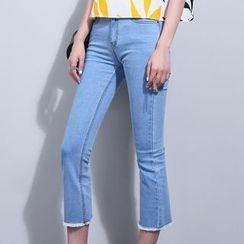 Sonne - Fray-Hem Cropped Skinny Jeans