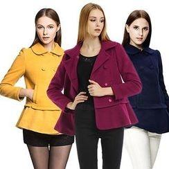 O.SA - Ruffled Wool Blend Coat