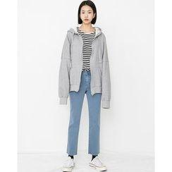 Someday, if - Drop-Shoulder Brushed-Fleece Lined Hoodie