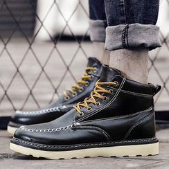 Muyu - Faux Leather Boat Boots