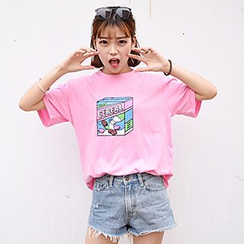 Melon Juice - Short-Sleeve Print T-Shirt
