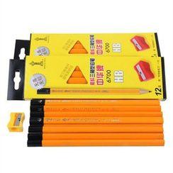 Chise - Triangular HB Pencil Set