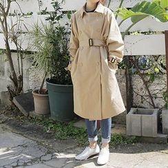 FancyMe - 純色雙襟風衣
