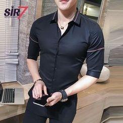 SIRIUS - Elbow-Sleeve Plain Shirt