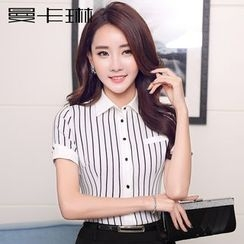 Caroe - Short-Sleeve Striped Blouse