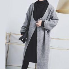 Sonne - 毛呢棒球长外套