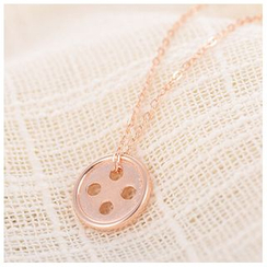 Zundiao - Sterling Silver Button Necklace