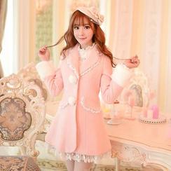 Candy Rain - Long Woolen Coat