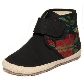 yeswalker - Embroidered Velcro Ankle Boots