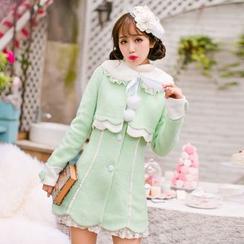 Candy Rain - Woolen Long Coat