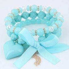 Bling Thing - Heart Layered Bracelet