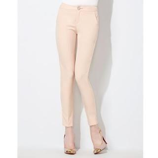 Moonbasa - High-Waist Skinny Pants
