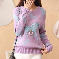 Cotton Candy - Horse Pattern Sweater