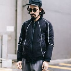 YIDESIMPLE - Reflective Padded Baseball Jacket