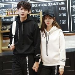 belle epoque - Couple Matching Embroidered Hoodie