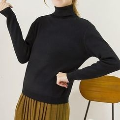 Honey House - Turtleneck Knit Top