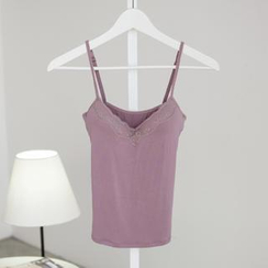 SO Central - Lace-Trim Padded Camisole