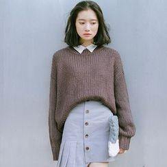 SUYISODA - Plain Knit Top