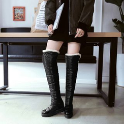 Pretty in Boots - Padded Over-The-Knee Boots