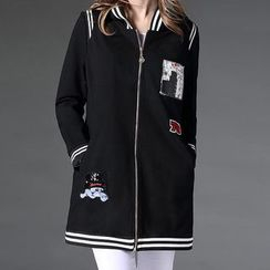 Mythmax - Applique Baseball Jacket