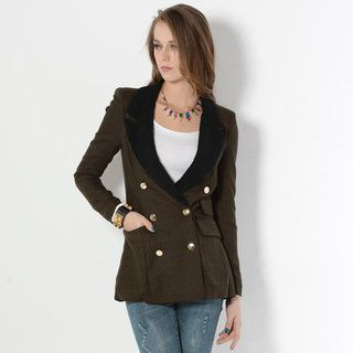 YesStyle Z - Double-Breasted Long Blazer