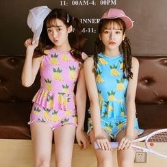 LANYI - Frilled Print Swimsuit