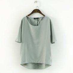Ranche - Cutout Short-Sleeve Top