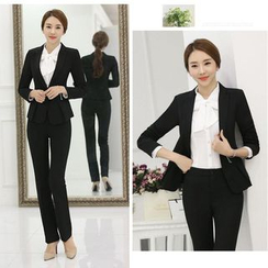 Princess Min - Set: Blazer + Skirt / Set: Blazer + Pants
