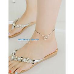 soo n soo - Thread Silver Anklet