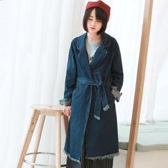 11.STREET - Denim Long Jacket