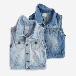 Happy Go Lucky - Kids Denim Vest