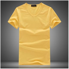 JORZ - Plain V-Neck Short Sleeve T-Shirt