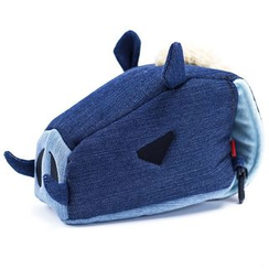 Plume Moon - Denim Boar Camera Pouch