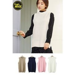 BONGJA SHOP - Sleeveless Long Knit Top