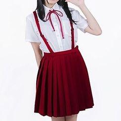Kyouko - Pleated Jumper Skirt