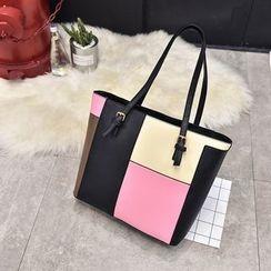 薇薇 - 拼色手提包