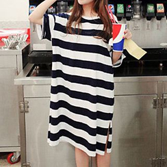 Fashion Street - Striped T-Shirt Dress