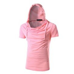 Bay Go Mall - Short-Sleeve Hooded T-shirt