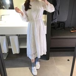 Jolly Club - Long-Sleeve Lace Dress