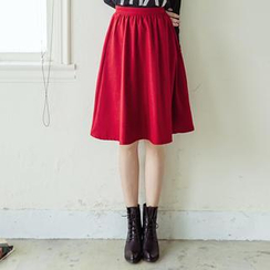Tokyo Fashion - Pleated A-Line Midi Skirt