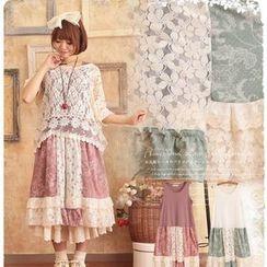 Nectarine - Floral Panel Tank Dress
