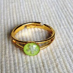 MyLittleThing - Resin Little Snowflake Ring (Grass)