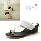 MODELSIS - Color-Block Thong Sandals