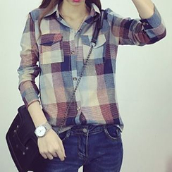 Cloud Nine - Long-Sleeved Plaid Shirt