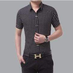 JIBOVILLE - Short-Sleeve Patterned Shirt